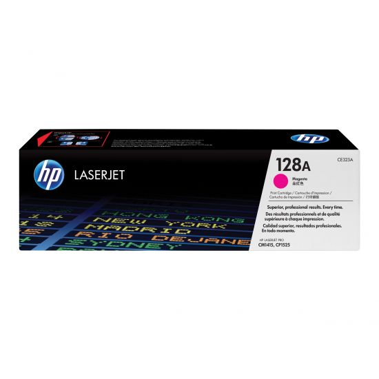 HP 128A - magenta - original - LaserJet - tonerpatron (CE323A)
