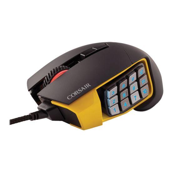 Corsair Gaming SCIMITAR PRO RGB MOBA/MMO - mus - USB - gul