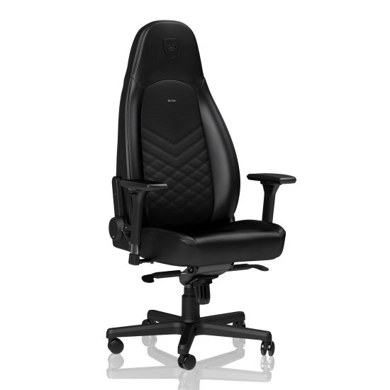 Noble Chairs ICON Series Real Leather Black