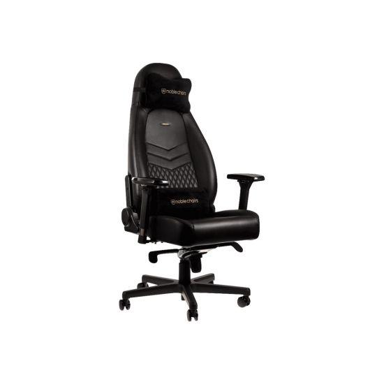 sort stol noblechairs ICON Series Sort Ægte Læder Gamer Stol sort stol