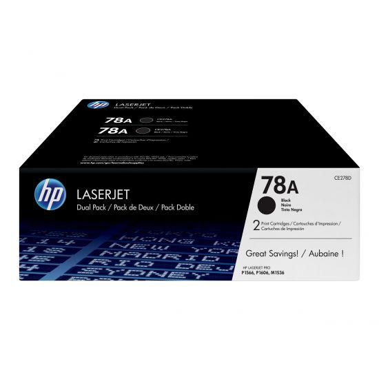 HP 78A - Printerpatroner Sort - 2 stk.