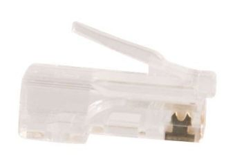 C2G RJ45 Cat5E Modular Plug for Round Stranded Cable