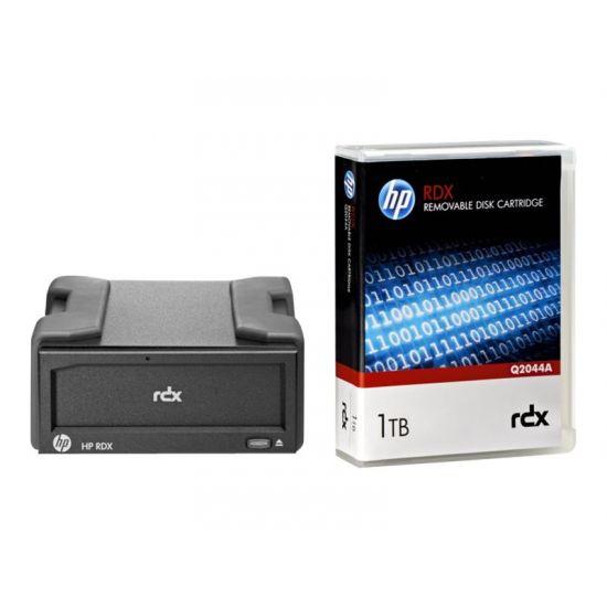 HPE RDX Removable Disk Backup System - RDX drev - SuperSpeed USB 3.0 - ekstern - med 1 TB kassette