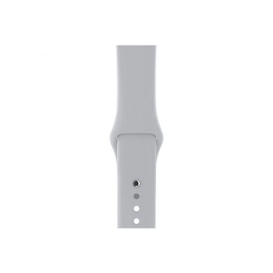 Apple Watch Series 3 (GPS + Cellular) - sølvaluminium - smart ur med sportsbånd - tåge - 16 GB - ikke specificeret