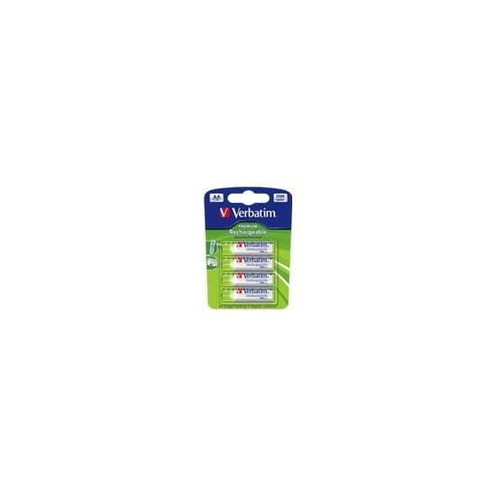 Verbatim Premium batteri - AA - NiMH x 4