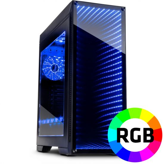 Føniks AMD Ryzen 7/GTX1070 Gamer Computer - AMD Ryzen 7 2700 - 16GB DDR4 - Nvidia GTX 1070 8GB - 480GB SSD - 1TB HDD - Uden Windows
