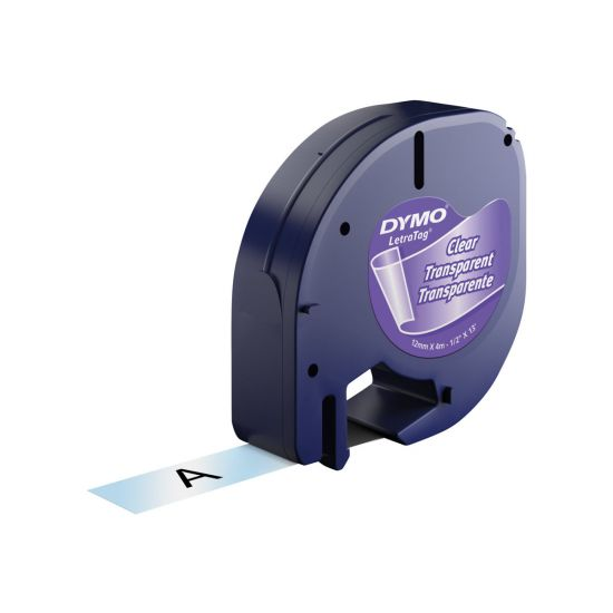 DYMO LetraTAG - tape - 1 rulle(r) - Rulle (1,2 cm x 4 m)