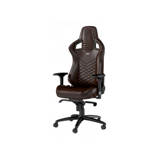 noblechairs EPIC Series Brun/Sort Ægte Læder Gamer Stol