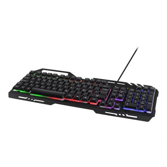DELTACO GAMING GAM-042 - Gaming tastatur med RGB lys - Nordisk
