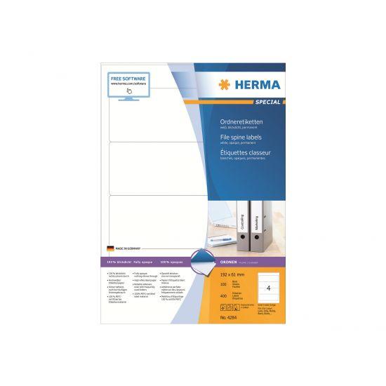 HERMA Special - uigennemsigtige mappemærkater - 400 etikette(r) - 192 x 61 mm