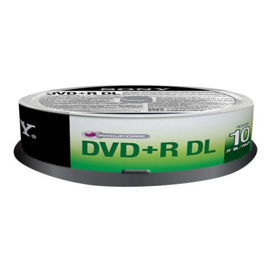 Sony 10DPR85SP - DVD+R DL x 10 - 8.5 GB - lagringsmedie