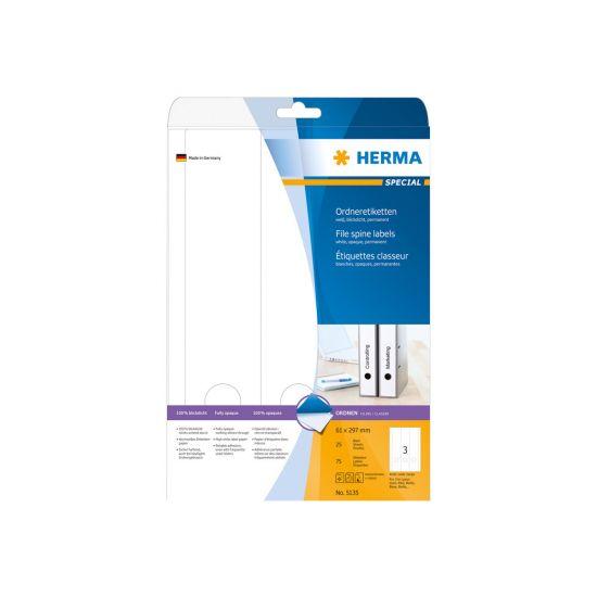 HERMA Special - uigennemsigtige mappemærkater - 75 etikette(r) - 61 x 297 mm