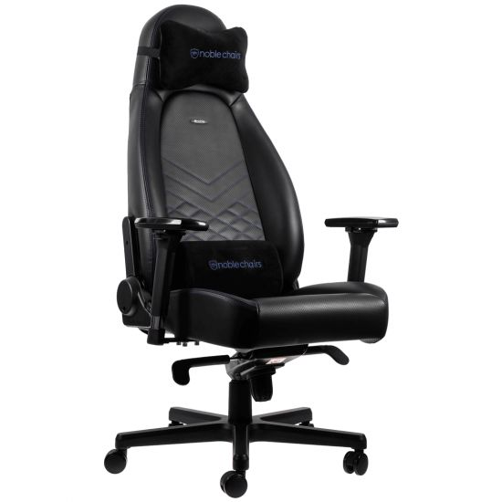 noblechairs ICON Series Faux Leather Black/Blue