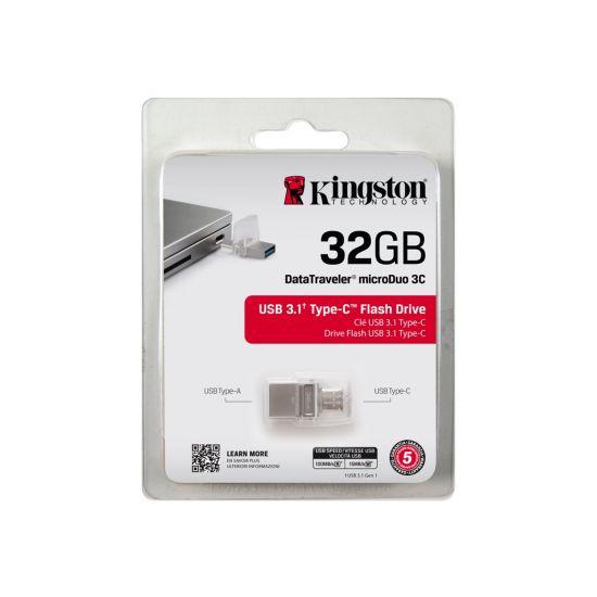 Kingston DataTraveler microDuo 3C - USB flashdrive - 32 GB