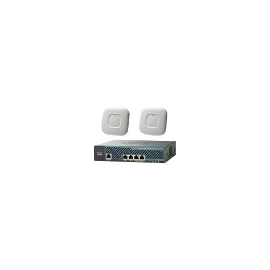 Cisco 2504 Wireless Controller - Mobility Express Bundle - styringsenhed for netværk - med 2 x Cisco Aironet 1700 Series Access Point