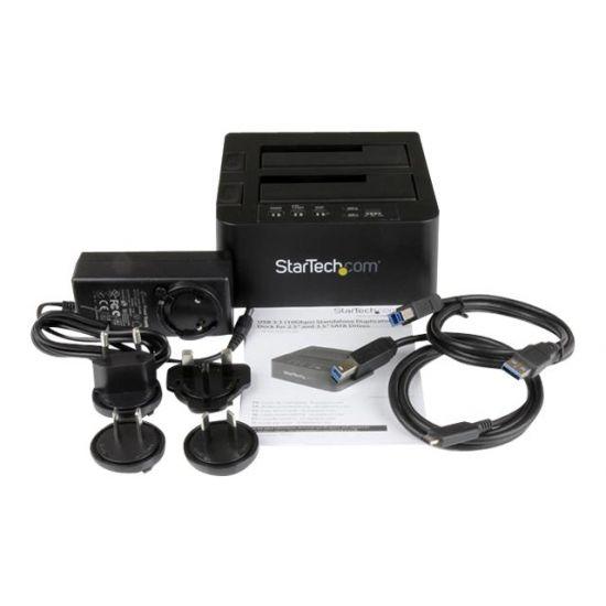 """StarTech.com USB 3.1 (10Gbps) Duplicator Dock for 2.5"""" & 3.5"""" SATA SSD/HDDs - harddisk-duplikator"""