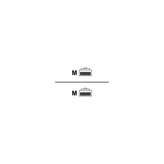 MicroConnect krydskabel - 15 m - hvid