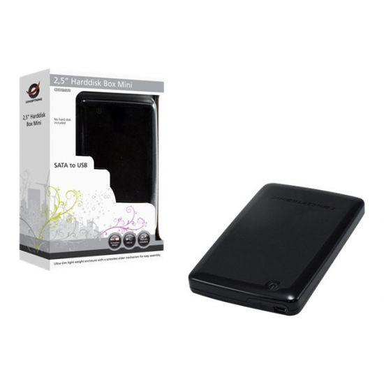 """Conceptronic CHD2MUB 2,5"""" Harddisk Box Mini - lagringspakning - SATA 1.5Gb/s - USB 2.0"""