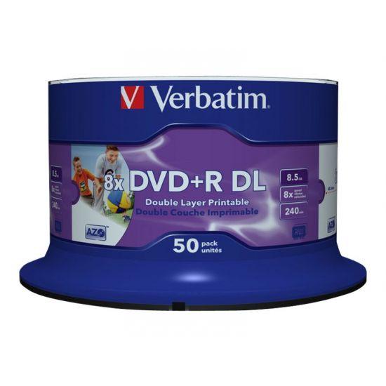 Verbatim - DVD+R DL x 50 - 8.5 GB - lagringsmedie