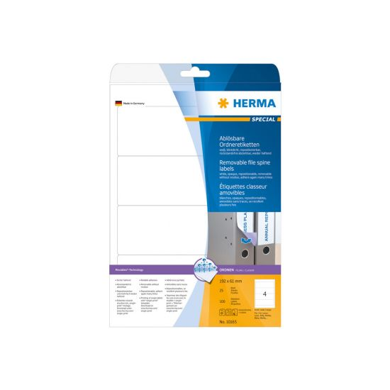 HERMA Special - uigennemsigtige mappemærkater - 100 etikette(r) - 192 x 61 mm