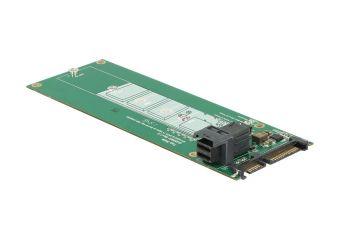 DeLOCK Converter SATA 22 pin / SFF-8643 NVMe > 1 x M.2 NGFF Key M