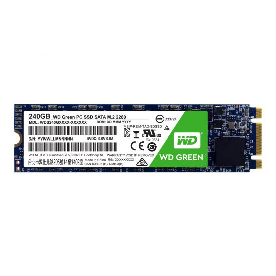 WD Green PC SSD WDS240G1G0B &#45 240GB - SATA 6 Gb/s - M.2 Card