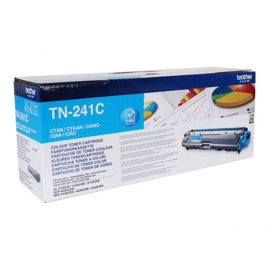Brother TN241C 1.400 sider - Printerpatroner Cyan