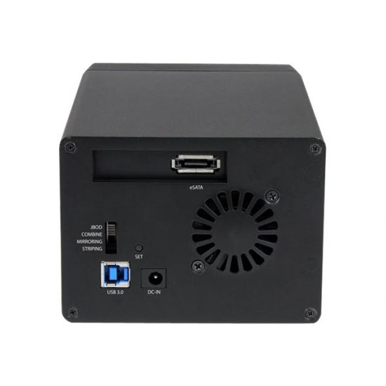 "StarTech.com USB 3 eSATA Dual 3.5"" SATA III HDD RAID Enclosure UASP - harddisk-array"
