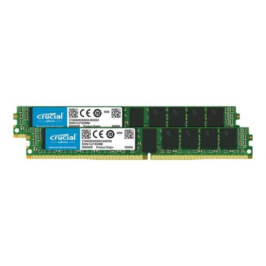 Crucial &#45 32GB: 2x16GB &#45 DDR4 &#45 2133MHz &#45 DIMM 288-PIN meget lav profil