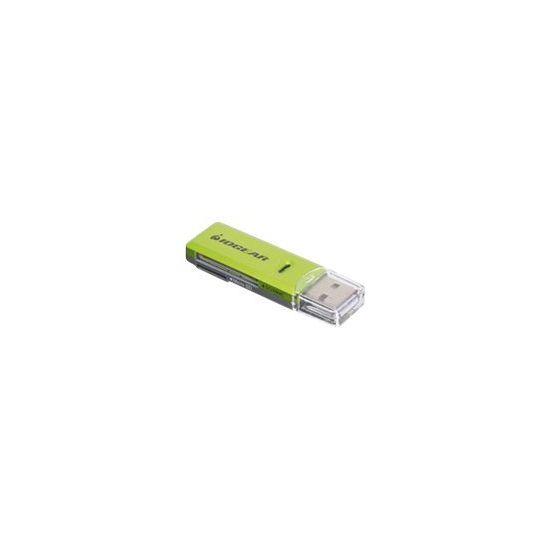 IOGEAR SD/MicroSD/MMC Card Reader/Writer GFR204SD - kortlæser - USB 2.0
