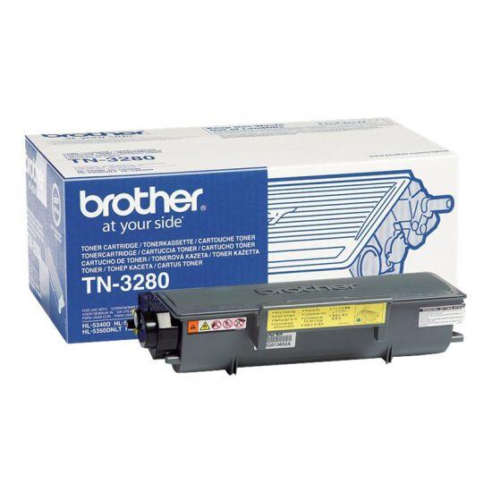 Brother TN3280 - sort - original - tonerpatron