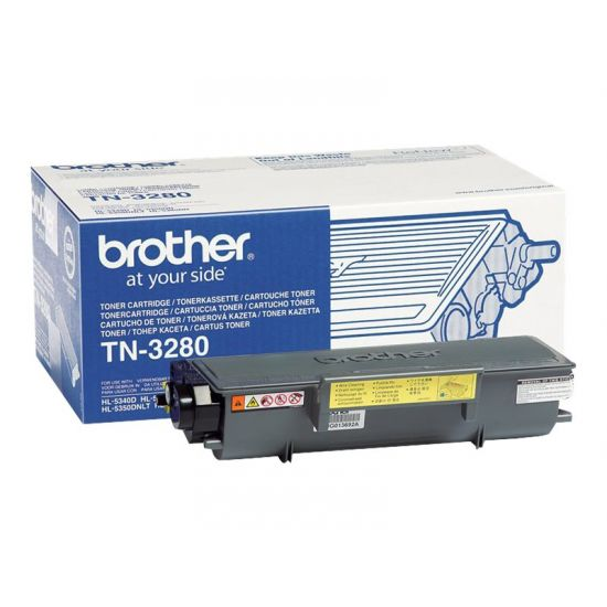 Brother TN3280 - sort - original - tonerpatron