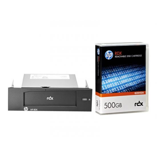 HPE RDX Removable Disk Backup System - RDX drev - SuperSpeed USB 3.0 - intern - med 500 GB Kassette