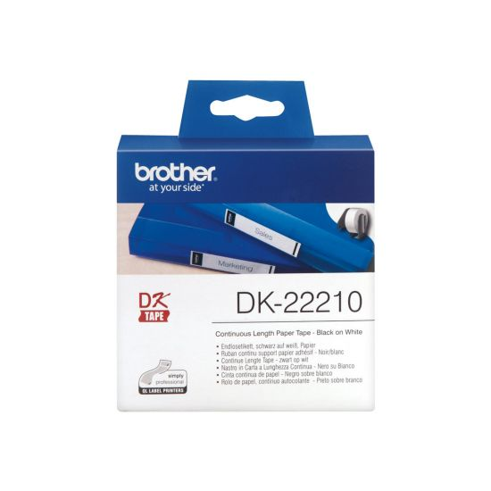 Brother DK-22210 - etiketter - Rulle (2,9 cm x 30,5 m)