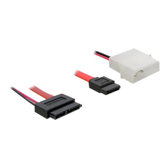 DeLOCK SATA Slimline ALL-in-One cable - SATA-kabel - 30 cm
