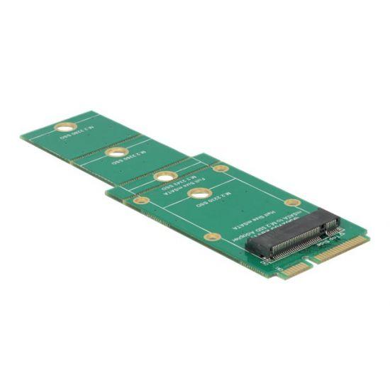 DeLOCK Adapter M.2 NGFF > mSATA - lagringskontrol - M.2 Card - mSATA