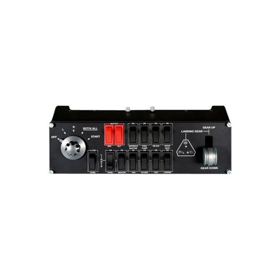 Logitech Flight Switch Panel - instrumentpanel til flysimulator - kabling