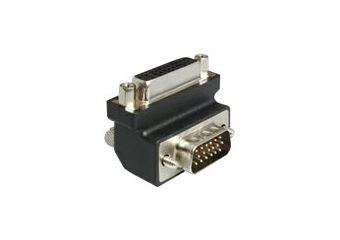 DeLOCK Adapter DVI 24+5 female / VGA 15 pin male 90°angled