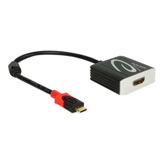 DeLOCK - ekstern videoadapter - sort