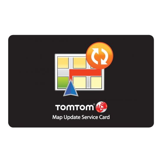 TomTom Map Update Service card - kort opdaterings abonnemet - 1 år