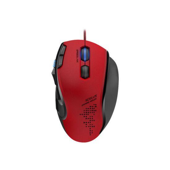 SPEEDLINK SCELUS - mus - USB - sort, rød