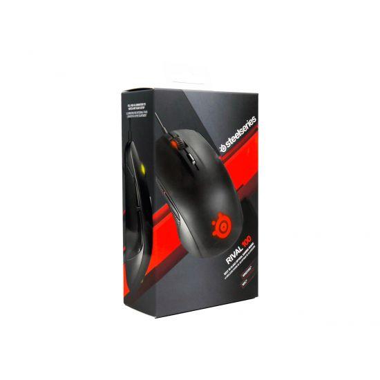 SteelSeries Rival 100 - mus - USB - sort