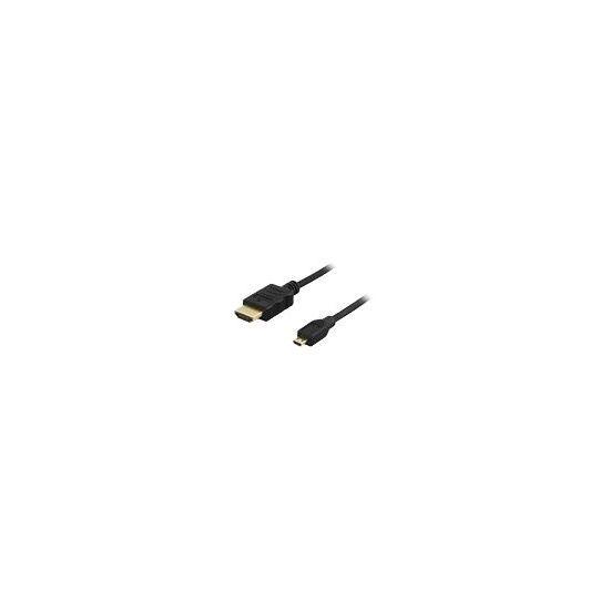 Deltaco Micro HDMI til HDMI - 2 m