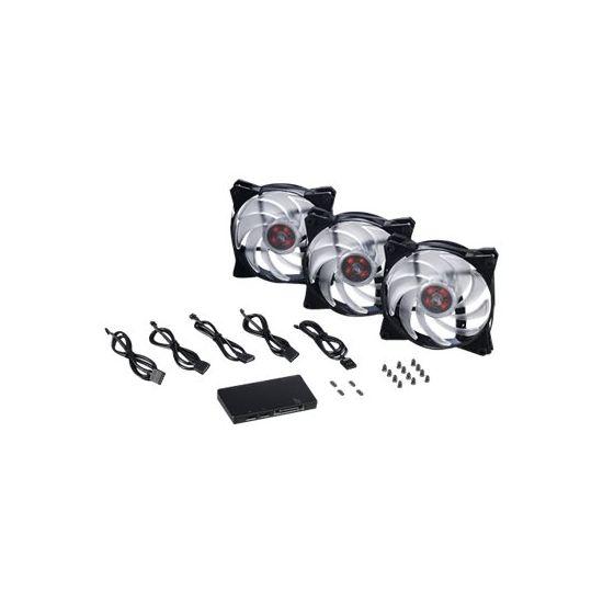 Cooler Master MasterFan Pro 120 Air Balance RGB 3 in 1 with RGB LED Controller - indsats med blæser