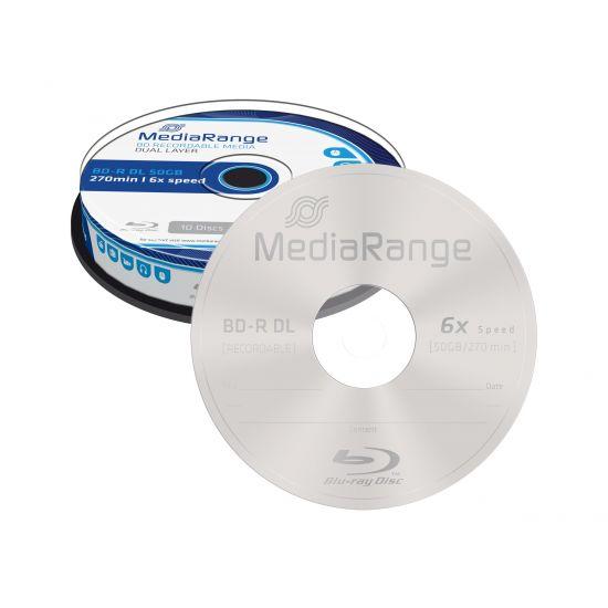 MediaRange - BD-R DL x 10 - 50 GB - lagringsmedie