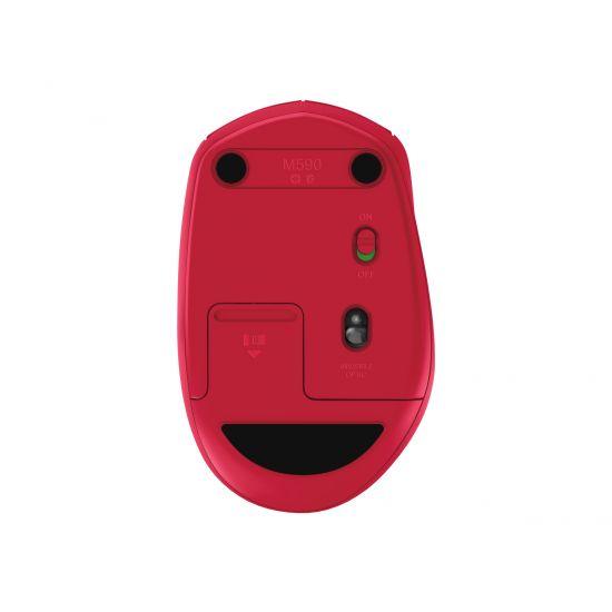 Logitech M590 Silent - mus - Bluetooth, 2.4 GHz - rubin
