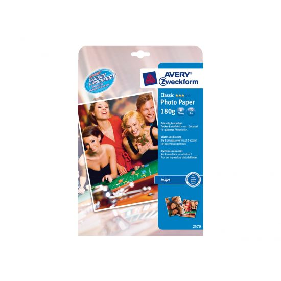 Avery Premium Instant DRY 2570 - fotopapir - 10 ark - A4 - 180 g/m²