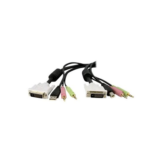 StarTech.com 4-in-1 USB Dual Link DVI-D KVM Switch Cable with Audio and Microphone
