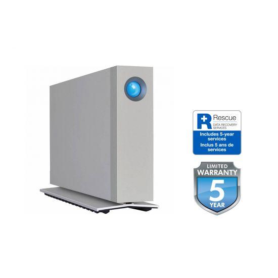 LaCie d2 Thunderbolt 3 &#45 10TB - USB 3.1 Gen 1 - 24 pin USB-C   2 x Thunderbolt 3 - 24 pin USB-C