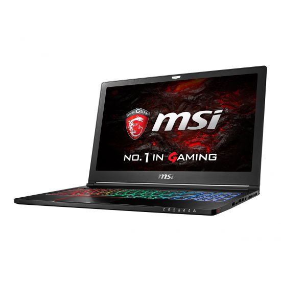 MSI GS63VR 6RF 022NE Stealth Pro - 16GB Core i7 15.6´´ GF-GTX1060 6GB Børstet metal sort